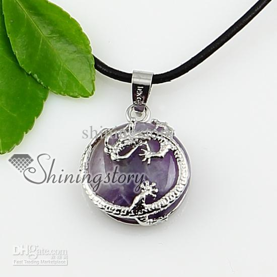 cheap semi precious stone gem stone jewelry wholesale semi precious stone  alloy pendant necklaces owxwnvl