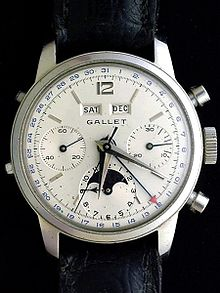 chronograph watch 1959)-complex mechanical chronograph with 12-hour recoding capabilities,  automatic day, date, month, and moon phase uxwfyuk