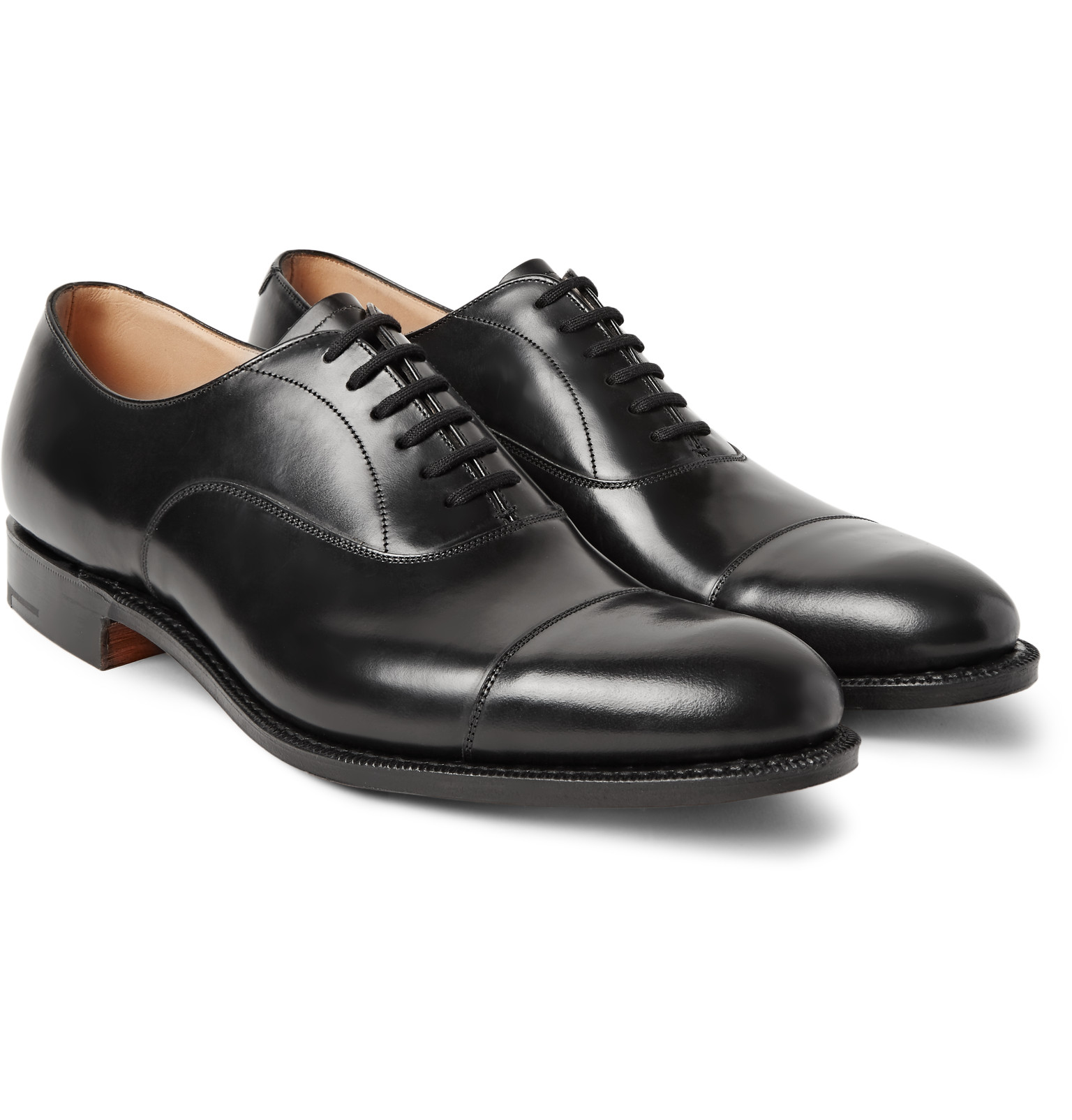 church shoes churchu0027sdubai polished-leather oxford shoes evoijhi
