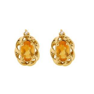 citrine earrings yellow gold diamond oval citrine november birthstone earrings $250.00 knblxda