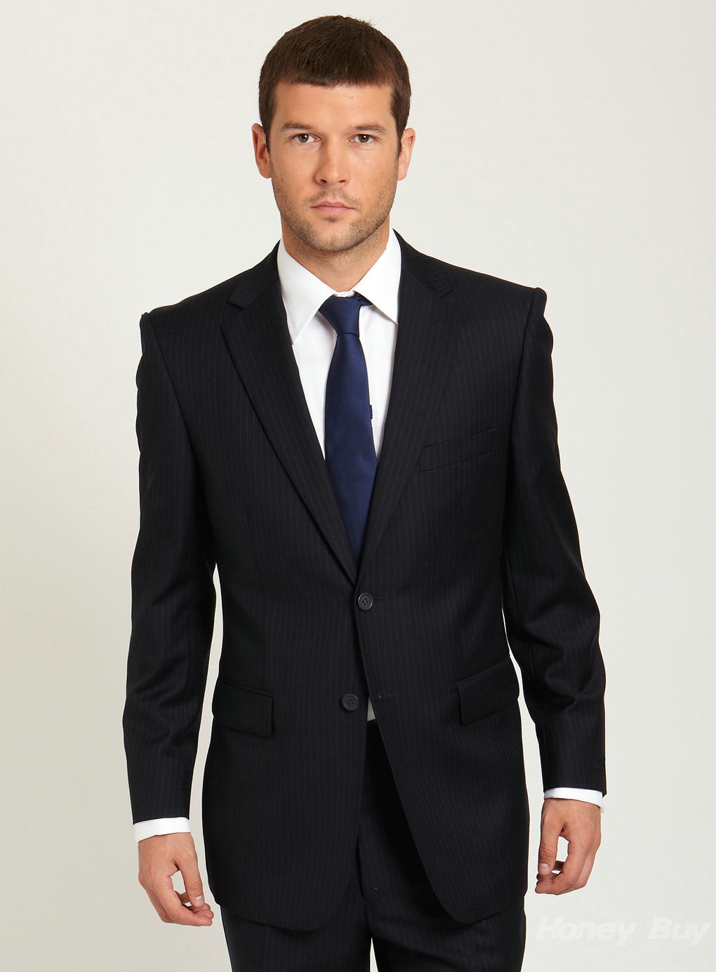classic new arrival design notch lapel pinstripe business suit dyolbwy
