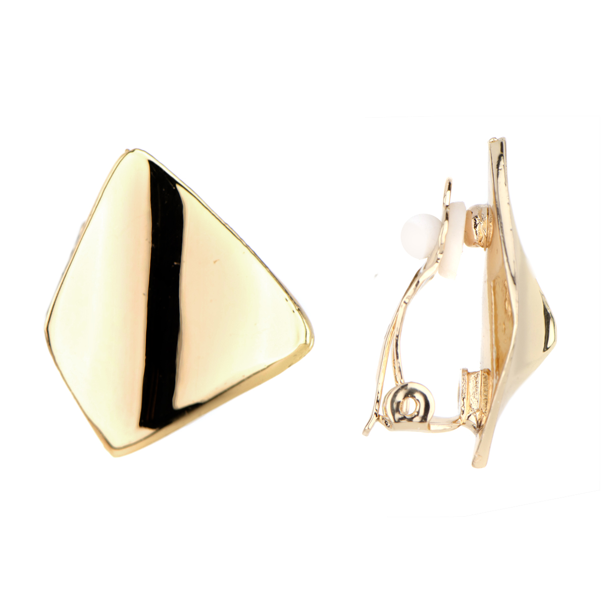 clip earrings lenau0027s goldtone modern clip on earrings. roll off image to close zoom window iqffdgw