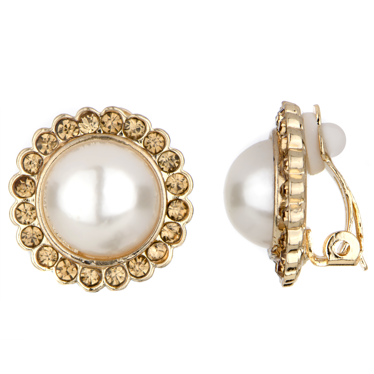 clip earrings pearl clip on earrings jlshtwz
