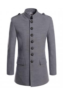 coats for men gray napoleon style military coats mens oljkvvr