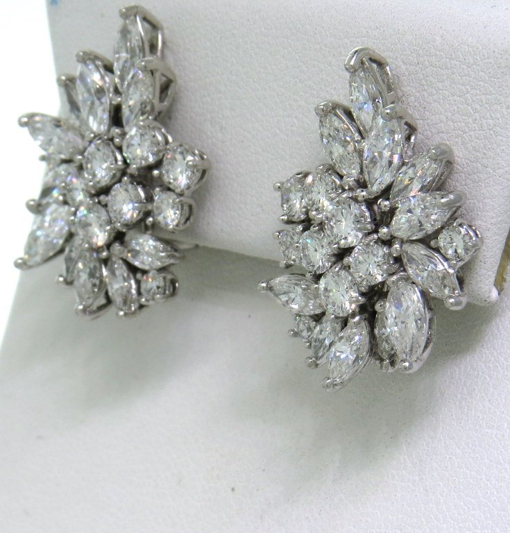 cocktail earrings classic diamond cocktail cluster earrings 2 zljxunv