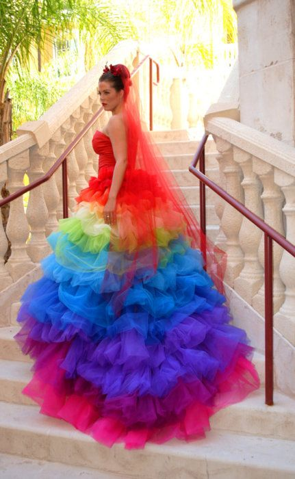 colorful wedding dresses best 25+ rainbow wedding dress ideas on pinterest | pastel wedding dress  colors, unicorn toqxasp