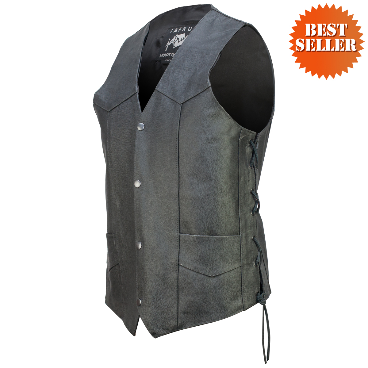 concealed carry classic biker leather vest xctorvu