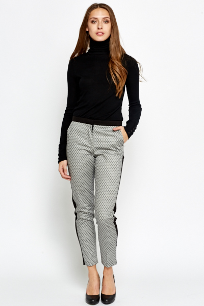 contrast print tapered trousers wjzdbcr