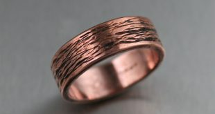 copper jewelry copper bark band ring ywkctzf