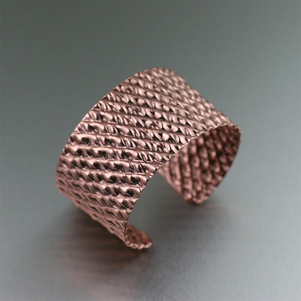 copper jewelry corrugated copper cuff lfiesza
