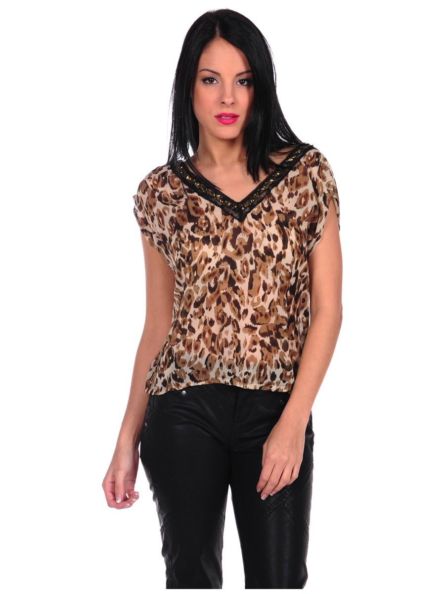 costa blanca. leopard print top qgzgcej