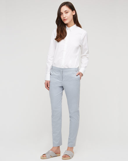 cotton stretch tapered trousers vngmyaq