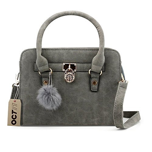 cute handbags oct 17 lady women lock faux leather tote hobo shoulder bag purse fur ball grvmnnc