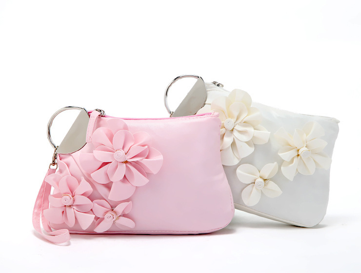 cute handbags sweet cute women handbags pu leather flower clutch lady elegant evening bags  multifunctional cosmetic ylvsqtu