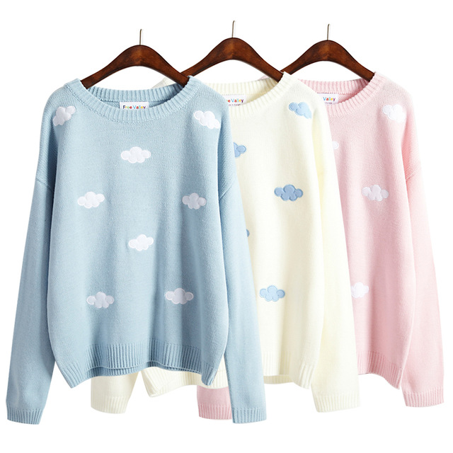 cute sweaters 2017 women sweaters and pullovers korean new winter style coats kawaii  harajuku cute 3d bzxbgdi