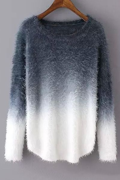 cute sweaters ombre mohair long sleeve sweater bymquha