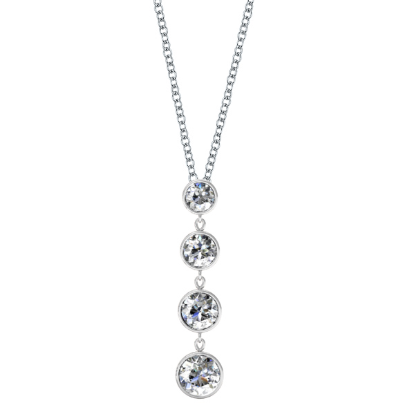 dangling diamond pendant necklace - click to enlarge mvhqvkv