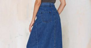 denim maxi skirt ocjvxds