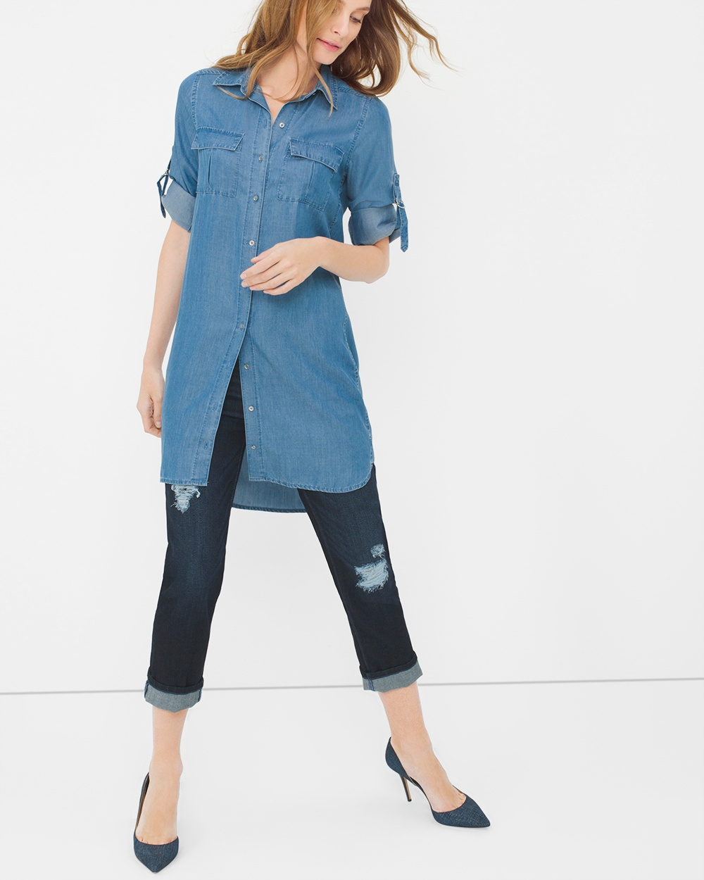 denim tunic rqplvbz