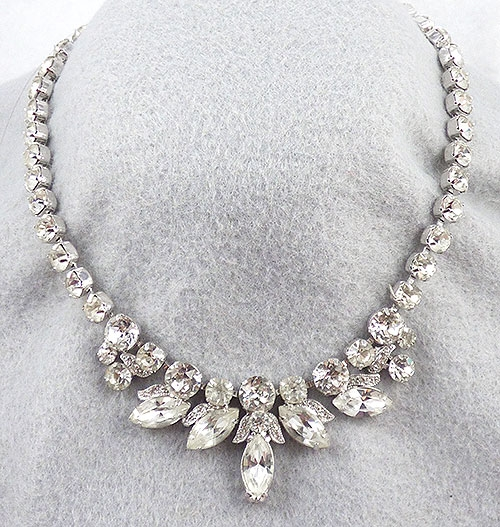 design description: eisenberg ice rhinestone necklace c. 1970 deihdmr