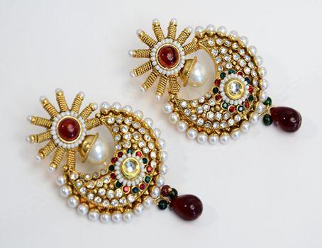 designer earrings designer halfmoon earring « indian imitation jewellery indian imitation  jewellery jmvoyfn