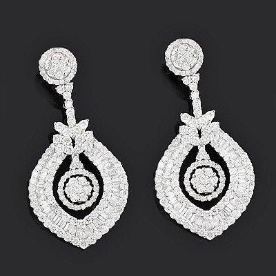 designer earrings luccello jewelry: designer diamond earrings 8.66ct 18k gold jdhhbaf