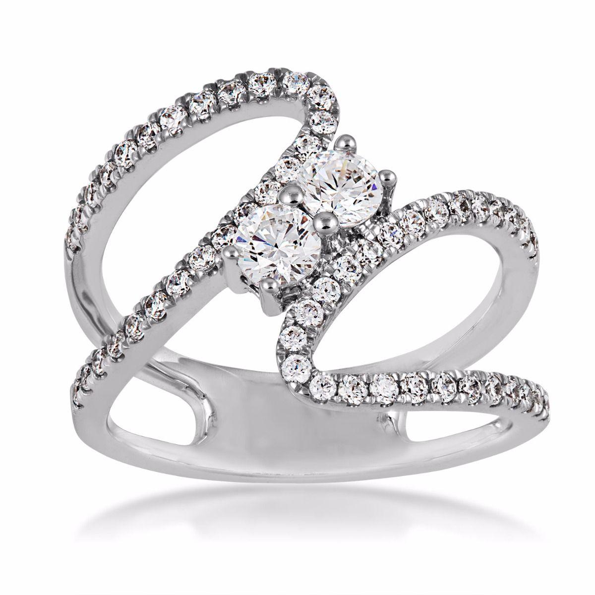 designer rings 7/8cttw 2beloved diamond ring in 14k white gold - sr1324r lwncchu
