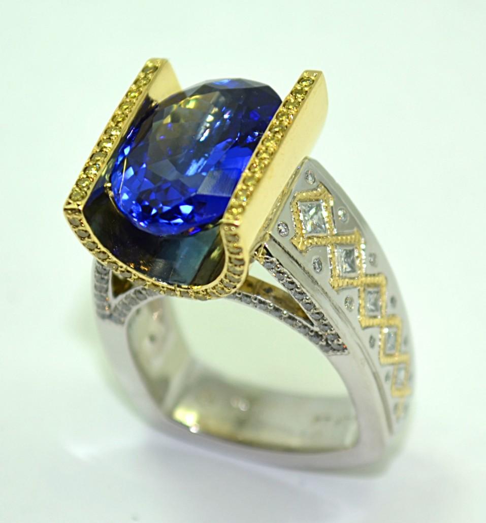 designer rings custom platinum u0026 18ky gold tanzanite ring ymdvvtu