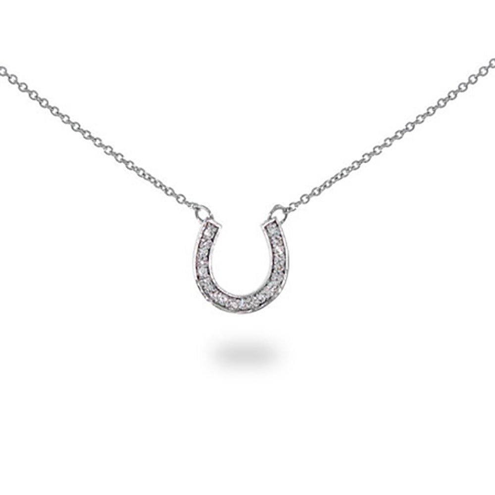 designer style cz sterling silver horseshoe necklace rzlyhbr