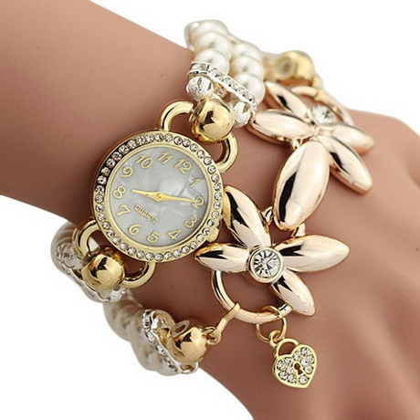 designer watches for women baishitop imitation pearls flower band ladies watches, womens luxury watches(white)  $6.28buy now trywuxq