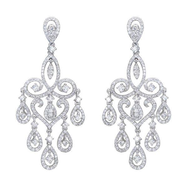 How to wear your chandelier earrings styleskier diamond chandelier earrings faongro aloadofball Image collections