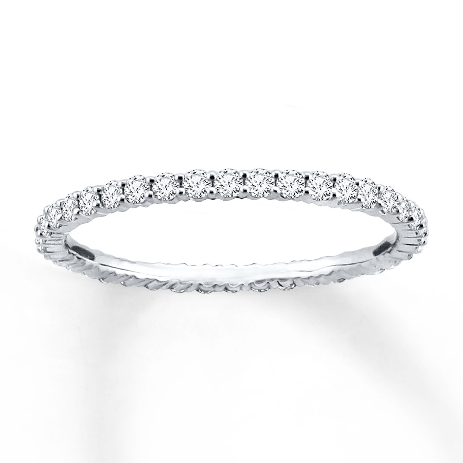 diamond eternity ring 1/2 ct tw round-cut 14k white gold cecvgdw