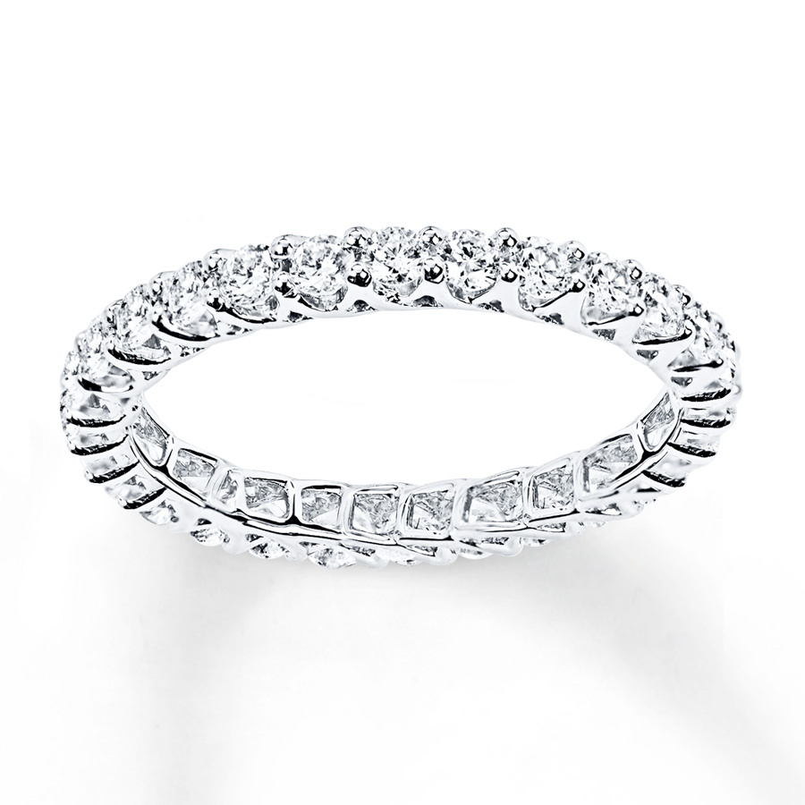 diamond eternity ring 1 ct tw round-cut 14k white gold vcxdaru