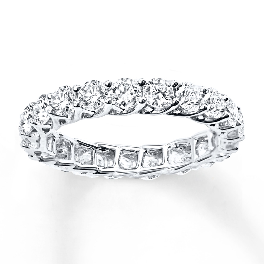 diamond eternity ring 2 ct tw round-cut 14k white gold wwfyrra