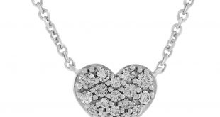 diamond heart necklace 14k ... xzaontc