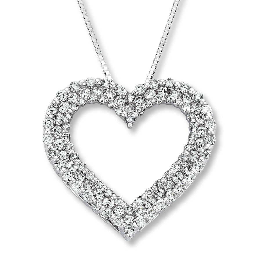 diamond heart necklace hover to zoom lczhyfk