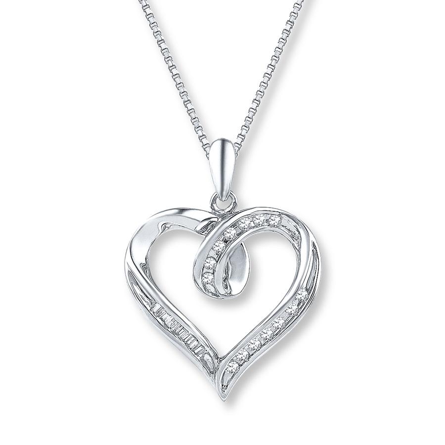 diamond heart necklace hover to zoom xoorlwc