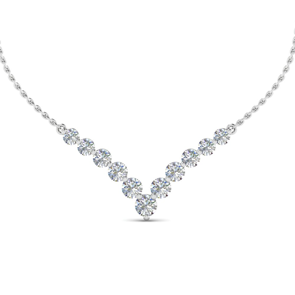 diamond necklace for women 0.70 carat graduated v necklace jayvqbr