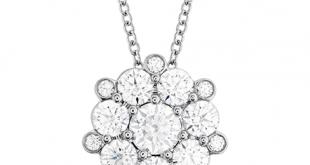 diamond pendant necklace beloved cluster diamond pendant wmycatj