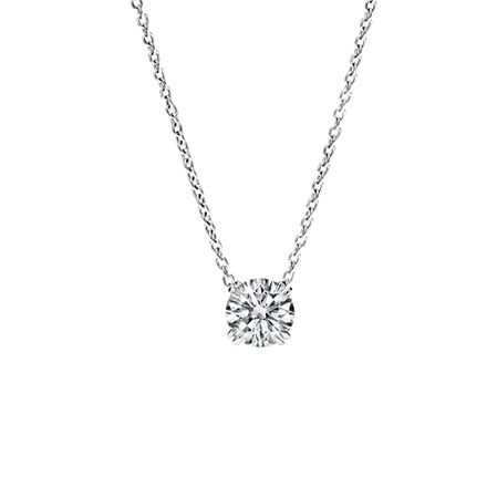 diamond pendant necklace harry winston round brilliant diamond pendant xgvaugy