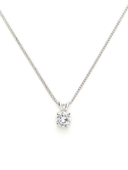 diamond pendant necklace the simple round diamond necklace: round cz mini pendant necklace by cz by  kenneth advbesl