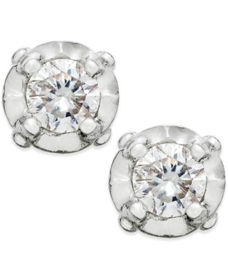 diamond stud earrings in 10k white gold (1/10 ct. t.w) lvxpkzp