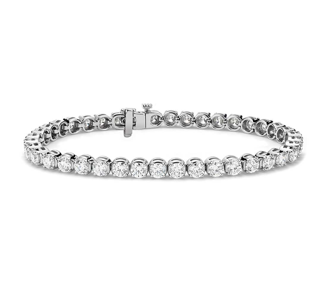 diamond tennis bracelet in 14k white gold (8 ct. tw.) lzudtdv