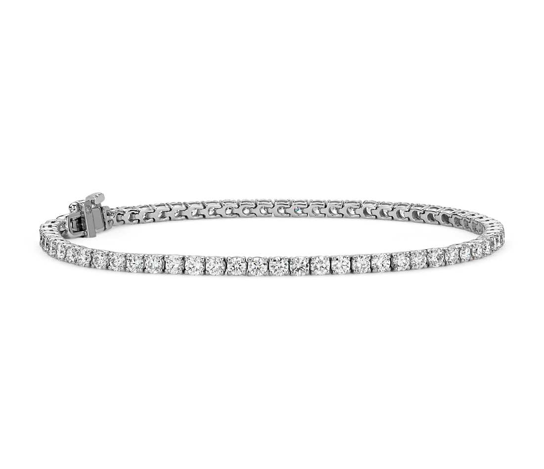 diamond tennis bracelet in 18k white gold - f / vs (4 ct. tw jfmjvpv
