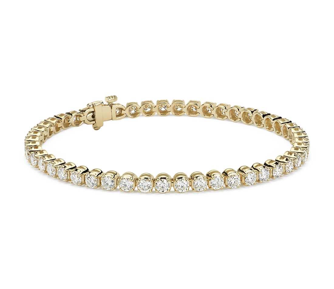 diamond tennis bracelet in 18k yellow gold (5 ct. tw.) rgugmfr