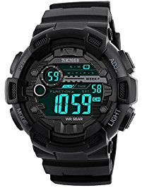 digital watches for men digital watch men waterproof sports watch - timer, alarm, countdown, 165ft  water resistant tdgtmye