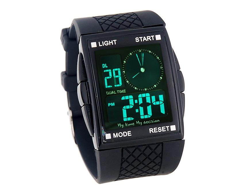 digital watches for men led digital and analog men sports watch with square dial plastic band  sports watch zylxcfo