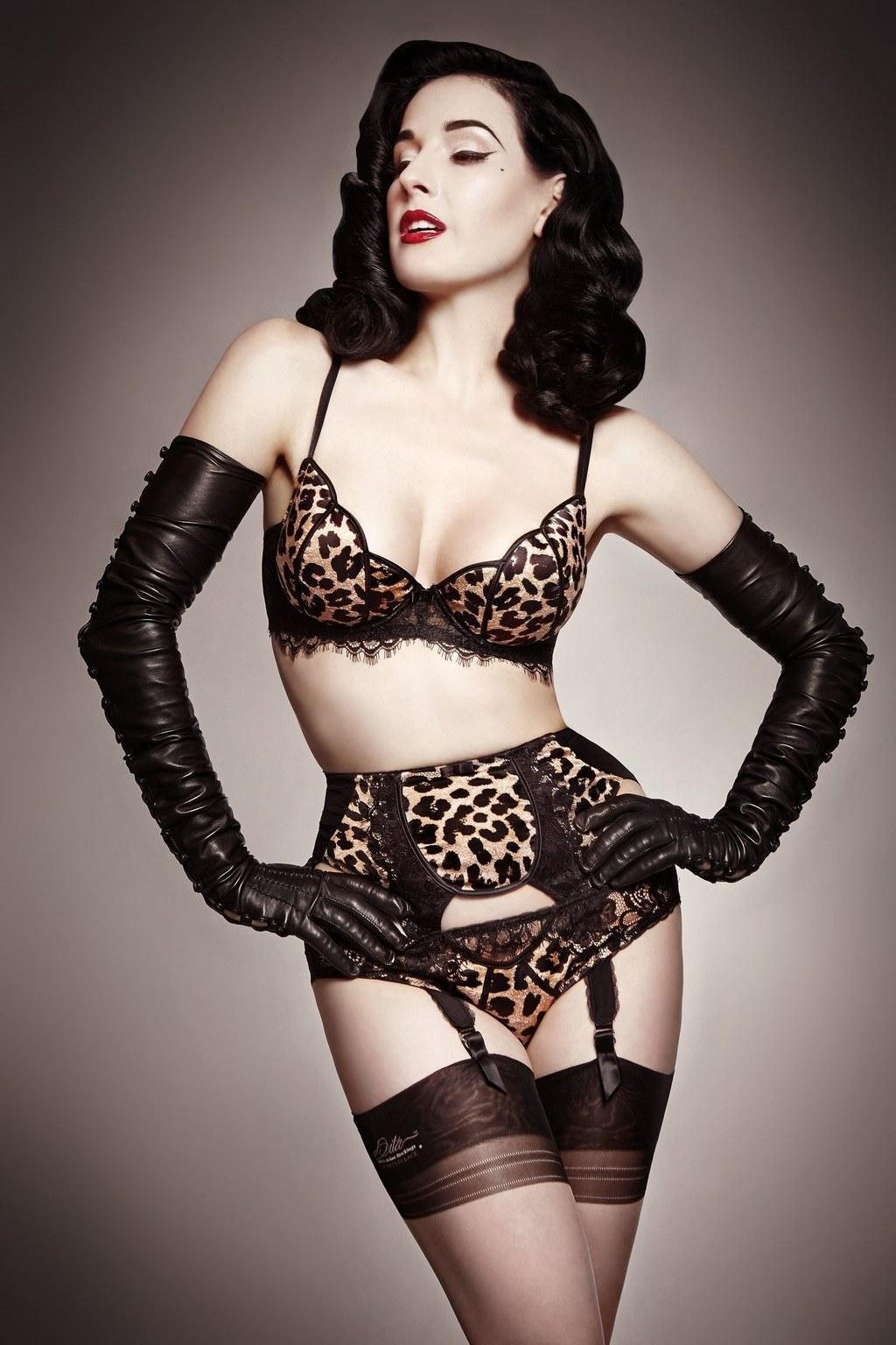 dita von teese lingerie leopard cdpvywn