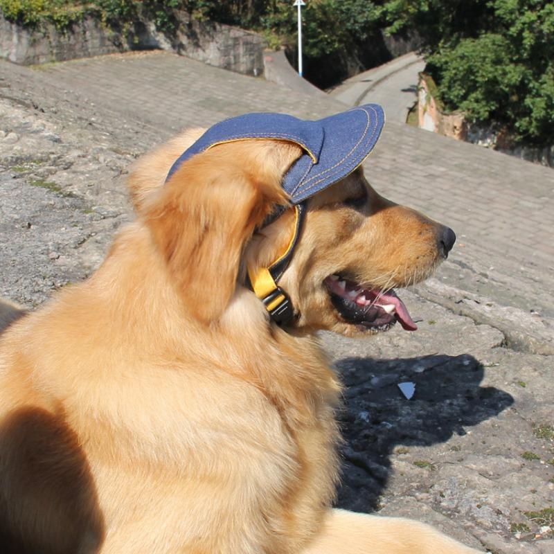 dog hats small pet cap dog sunshade jean hats outdoor baseball visor cap for dogs  breathable tfqvypp