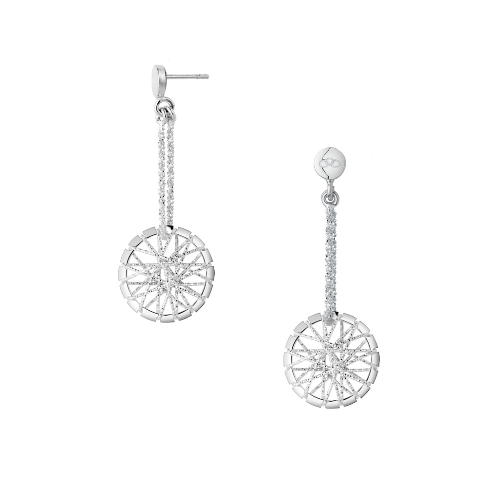 dream catcher sterling silver drop earrings peamwrq